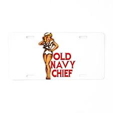 U.S Navy Chiefs Aluminum License Plate