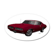 1968 GTO Flambeau Burgundy 22x14 Oval Wall Peel