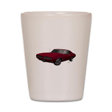 1968 GTO Flambeau Burgundy Shot Glass