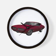 1968 GTO Flambeau Burgundy Wall Clock