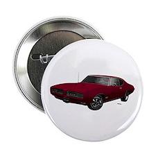 "1968 GTO Flambeau Burgundy 2.25"" Button"