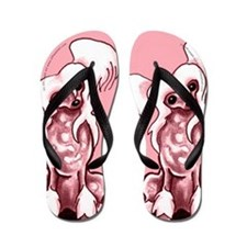 Chinese Crested Pinky Flip Flops