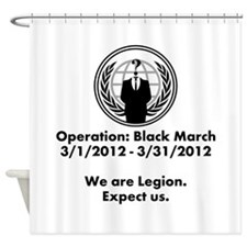 Operation Black March Shower Curtain