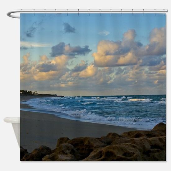 Dusk at Beach Shower Curtain