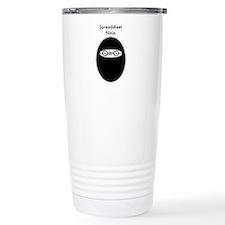 Spreadsheet Travel Coffee Mug