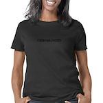 T JAX Women's Plus Size V-Neck Dark T-Shirt