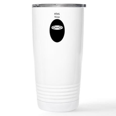 HTML Ninja Stainless Steel Travel Mug