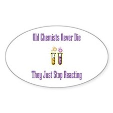 Old Chemists Oval Decal