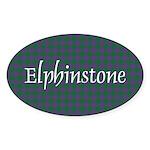 Tartan - Elphinstone Sticker (Oval 50 pk)