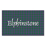 Tartan - Elphinstone Sticker (Rectangle 10 pk)