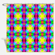 Squares and Circles Shower Curtain