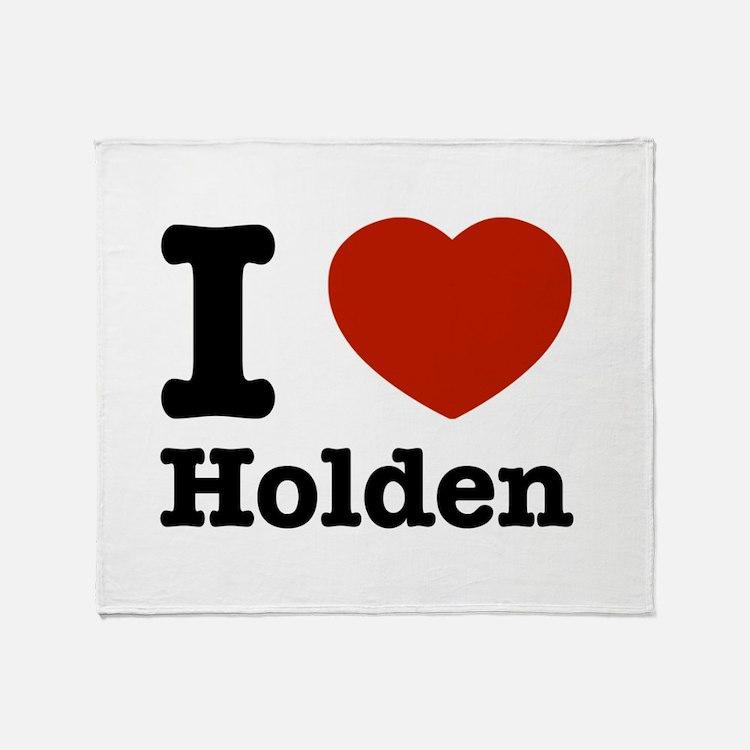 I love Holden Throw Blanket