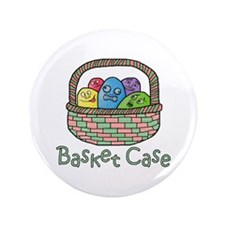 "Basket Case Easter Eggs 3.5"" Button"