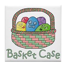 Basket Case Easter Eggs Tile Coaster