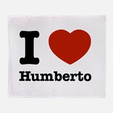 I love Humberto Throw Blanket