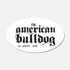 American Bulldog 22x14 Oval Wall Peel