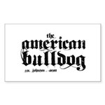 American Bulldog Sticker (Rectangle 10 pk)