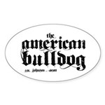 American Bulldog Sticker (Oval)