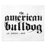 American Bulldog King Duvet