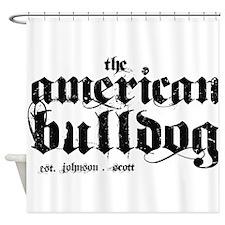 American Bulldog Shower Curtain