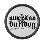American Bulldog Large Wall Clock