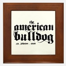 American Bulldog Framed Tile