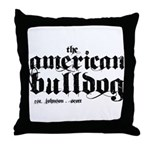 American Bulldog Throw Pillow