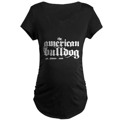 American Bulldog Maternity Dark T-Shirt