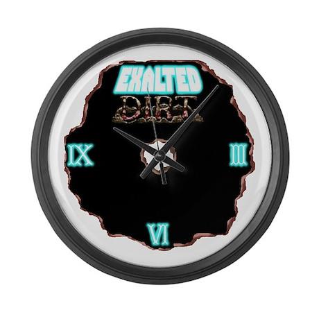 EXALTED DIRT Logo Large Wall Clock