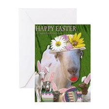 Sassy Easter Goat Greeting Card