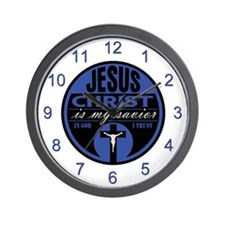 Jesus Christ is My Savior(Blue) Wall Clock