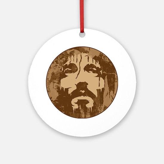 Face of Jesus Ornament (Round)