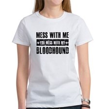 Funny Bloodhound Design Tee