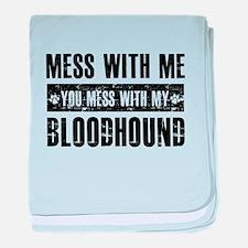 Funny Bloodhound Design baby blanket