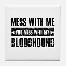 Funny Bloodhound Design Tile Coaster
