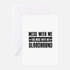 Funny Bloodhound Design Greeting Cards (Pk of 20)