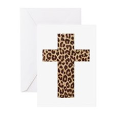 LEOPARD CROSS Greeting Cards (Pk of 10)