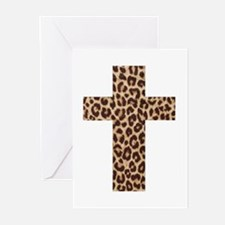 LEOPARD CROSS Greeting Cards (Pk of 20)