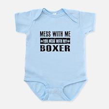 Funny Boxer design Infant Bodysuit