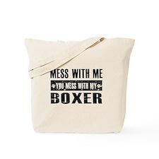 Funny Boxer design Tote Bag
