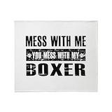 Boxer dog Blankets