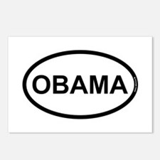 White Black Obama Postcards (Package of 8)