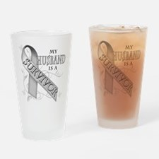 My Husband is a Survivor Drinking Glass