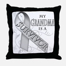 My Grandma is a Survivor Throw Pillow