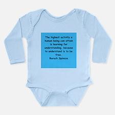 Spinoza Long Sleeve Infant Bodysuit
