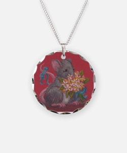 Mouse With Flowers Necklace