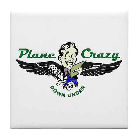 Plane Crazy Ceramic Drink Coaster