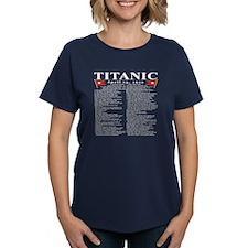 Titanic Ship Statistics Tee
