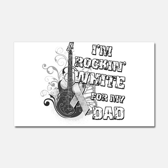 I'm Rockin' White for my Dad Car Magnet 20 x 12