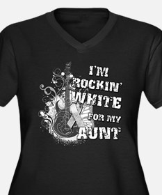I'm Rockin' White for my Aunt Women's Plus Size V-